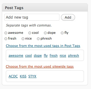 Sitewide Tag Suggestion